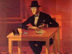 Almada Negreiros, Retrato de Fernando Pessoa on ArtStack Art Deco, Art Nouveau, Henri Matisse, Caricature, Modern Art, Portugal, Literature, Illustration Art, 1970s