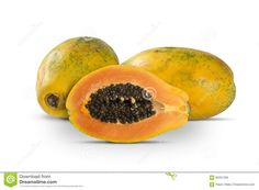 Food: Shown above is an opened papaya with the seeds on the inside. Brazilians prefer simple breakfasts  like with bread milk, jam, fruits, coffee and fruit.Some fruits indigenous to brazil are: Guaran, Caju, Brazil Nuts, Pineapple, Guava, Passion Fruit, Jackfruit, papaya, Avocado, and much more   Fruits and family are important things in meals. Brazilian children learn table manners at a very early age. Brazilian meals involve lot's of fruit