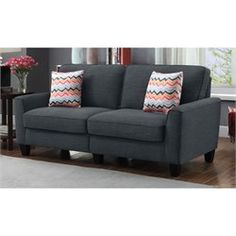 Serta Rta Astoria Collection 78 Sofa in City Skyline Charcoal (Grey), Durable Sofas, Charcoal, Skyline, Couch, City, Vivienne, Furniture, Collection, Home Decor