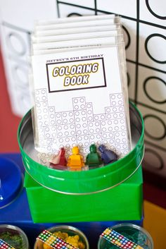 Coloring Book -Lego Themed Birthday Party! - Kara's Party Ideas - The Place for All Things Party