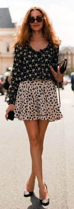 Mixing Prints Outfit