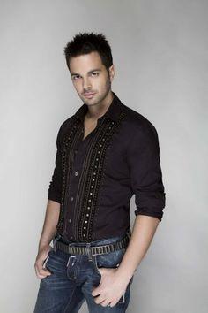 Ilias Vrettos, greek singer Famous Singers, Beautiful Men, Greek, Guys, Long Sleeve, Sleeves, Mens Tops, T Shirt, Fashion