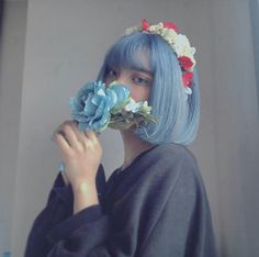 Pose Reference Photo, Hair Reference, Aesthetic People, Blue Aesthetic, Pretty People, Beautiful People, 5 Anime, Cute Patterns Wallpaper, Dye My Hair