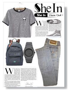 """""""Untitled #496"""" by suad-nisveta-mesic ❤ liked on Polyvore featuring beauty, Versace, Vans, FOSSIL and CC"""