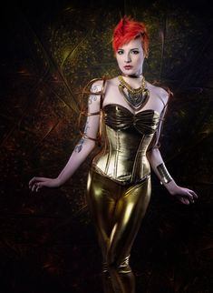 Gold metallic Metropolis corset costume/ by LyndseyBoutique  Futuristic charm,on Etsy.com (19th November 2015)