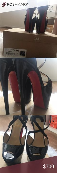 Christian Louboutin exagona 160mm 160 mm peep toe heels.. one of my favs. Includes box and dust bag Christian Louboutin Shoes Heels