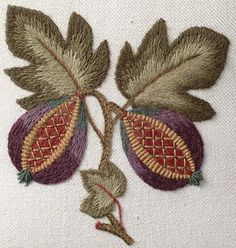 Sue Hawkins - jacobean embroidery workshop, Bath 2015