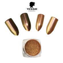 tessie shop Chameleon nail powder pink rose gold Chrome nail pigment Magic Mirror Chrome Effect Metallic Powder nail art(China (Mainland))