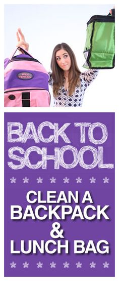 So helpful for back to school. How to clean and deodorize a backpack and lunch bag!