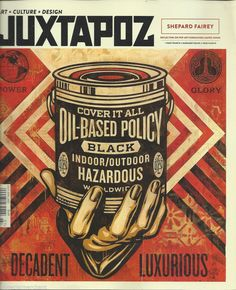 Juxtapoz Urban Modern Art Magazine 162 Cover by Shepard Fairey Obey Giant Mint Obey Prints, Poster Prints, Shepard Fairey Art, Margaret Keane, Street Art, Art Archive, Mixed Media Painting, Mural Art, Magazine Art