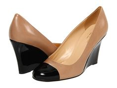 I'm obsessed with these shoes:  Kate Spade New York Kimmy Blush Glazed Leather/Black Patent