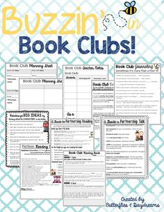 Book Club Unit Resources {Buzzin' in Book Clubs!}