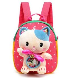 940403b160c2 Baby Girls Boys School Bag Plush Backpack Cartoon Bear Cat Kids Brithday  Gift Kindergarten Children School Bags Infant Backpacks