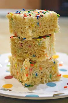 Ice Cream Before Dinner: Birthday Cake Rice Krispie Treats