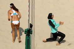 This Photogs Olympic Beach Volleyball Pic Has Sparked Some Serious Controversy…