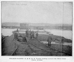 Building a bridge to Plymouth from Wilkes-Barre