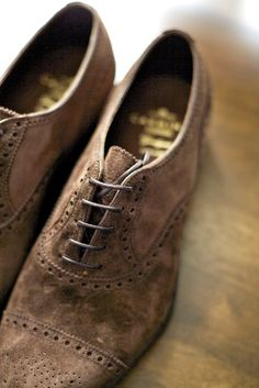 Suede wing tips