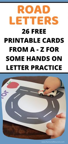 Amazing free printable road letters all the way from A-Z. These are a great activity for toddlers and preschoolers to help them learn pre-writing skills and practice their letter formation. They're fun and your kids won't even realized they're learning! Writing Activities For Preschoolers, Toddler Learning Activities, Preschool Education, Letter Activities, Free Preschool, Literacy Activities, Children Activities, Early Education, Learning Stations