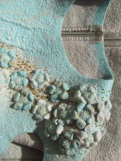 """Купить Платье валяное """"Свежесть мяты"""" - абстрактный, платье валяное, мятный, жемчужный, нежный"""