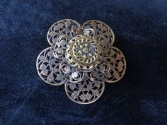 Antique Metal Button Brooch by PipersEmporium on Etsy, $12.00