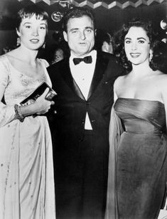 """pinklioness: """" Mike Todd is flanked by Shirley MacLaine and Elizabeth Taylor at a party in New York for his movie epic, """"Around the World in 80 Days."""" """""""