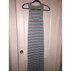 Blue & Grey Maxi dress Blue & grey maxi dress, great for those hot/warm weather... Ask questions :) Dresses Maxi