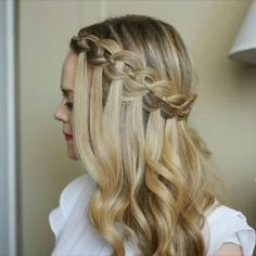 Four Strand Waterfall Braid  Perfect for a holiday party! ❤️ YouTube video link in my bio! #missysueblog