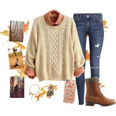 A fashion look from October 2015 by irdina-n featuring H&M, Charlotte Russe, GUESS, Casetify, GE, Fall and orangeleaves