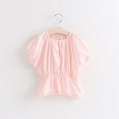 New Arrival Sweet Babies Girls Batwing Sleeve Candy Color Tops T Shirts Lace Neckline Loose Design Slim Waist Western Fashion Casual Tees From Smartmart, $40.47 | Dhgate.Com