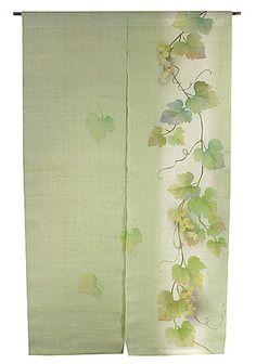 Kasane Studio Handwoven Hemp NOREN Budo Tsuru (Grapevine) you can buy direct from Japan