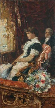 Juan Luna, IN THE THEATRE BOX  ( 23 October 1857-December 7 1899 ) Phillipine