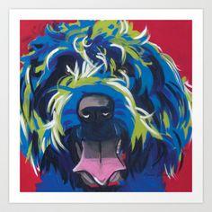 Wirehaired+Griffon+Pop+Art+Pet+Portrait+Art+Print+by+Karren+Garces+Pet+Art+-+$38.48