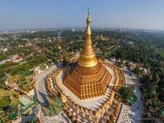 Aerial shot of the Shwedagon Pagoda in Yangon, Myanmar (Burma) - The Best Places to Travel in 2014 Tour Around The World, Around The Worlds, Parks, Shwedagon Pagoda, Dome Of The Rock, Adventure Tours, Famous Places, Mosque, Wonders Of The World