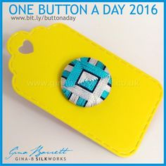 Changing Sides #onebuttonaday by Gina Barrett [ NancysSewingBasket.com ] #buttons