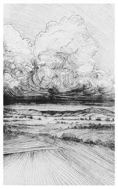 Berg Illustration, Ink Illustrations, Engraving Illustration, Intaglio Printmaking, Arte Peculiar, Landscape Drawings, Landscape Fabric, Landscape Design, Ink Pen Drawings