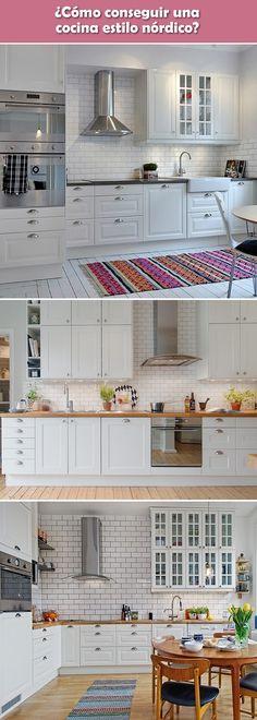 Cocinas de estilo nórdico. Nordic kitchens. Decoración nórdica. Nordic decoration. #nordic #decor #kitchen