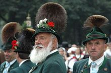 Bavarian Gamsbart (chamois beard) hat.  Traditionally from the hair of the chamois' lower neck.  Now made from various animals' hair.  Pinned by www.mygrowingtraditions.com