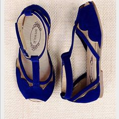 Joyfolie shoes are the MOST gorgeous girls special occasion shoes. Women too! A steal whenever zulily carries them! Ultramarine Blue Stella T-Strap Sandal & Hair Clip - Kids on today! Toddler Shoes, Kid Shoes, Cute Shoes, Girls Shoes, Toddler Girl, Baby Kids, Shoes Women, Toddler Sandals, Little Girl Fashion