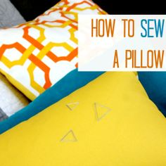How to sew a pillow {the easy way}