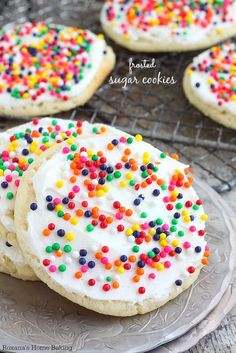 Buttery, melt-in-your-mouth amazingness, these frosted sugar cookies are the made-from-scratch version of the store bought ones. Love at first bite.