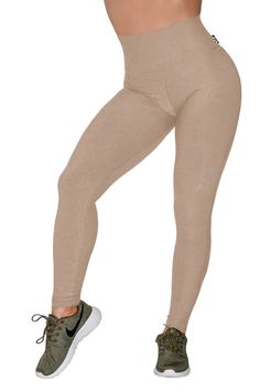 60be019f82a9 Bamboo   Organic Cotton Comfort High Waisted Leggings - Latte