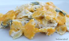 Easy and Delicious Creamy Chicken and Pasta Casserole from www.sixsistersstuff.com #chicken #pasta