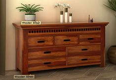 Adolph Chest of Drawers (Honey Finish)
