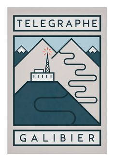 """cadenced: """" The Handmade Cyclist has released a new set of posters commemorating some of the great climbs of the Tour de France. L'Alpe d'Huez, twenty-one hairpins that rise up one of the most..."""