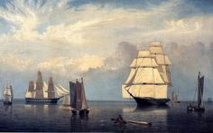 Fitz Henry Lane (American 1804–1865) [Luminism, Landscape, Marine] Salem Harbor, 1853. Museum of Fine Arts, Boston.