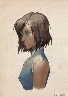 korra. I dont really like Korra but this design and style of her is really nice.