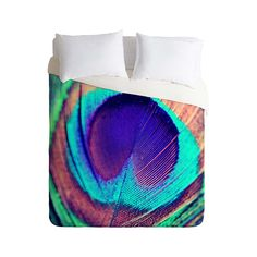 Spotlighting a single feather from an exotic peacock, this Iridescent Plumage Duvet Cover is a delightful choice. Beautiful shades of iridescent teal, blue and green show off the exquisite texture of t...  Find the Iridescent Plumage Duvet Cover, as seen in the Bohemian Sanctuary Collection at http://dotandbo.com/collections/bohemian-sanctuary?utm_source=pinterest&utm_medium=organic&db_sku=100598