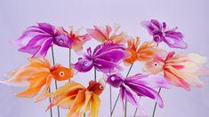 Nylon Flower Goldfishes 10PCS Vase not by BlissWondersFloral