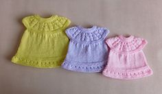 Ravelry: Lazy Daisy All-in-One Premature Baby Dress pattern by marianna mel
