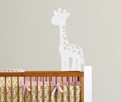 Giraffe Vinyl Wall Decal - Safari Jungle Vinyl Wall Decal - Children Nursery Baby Boy Girl -. $16.00, via Etsy.